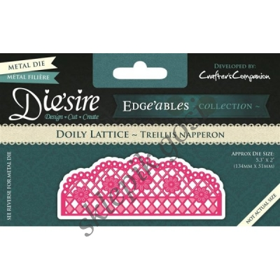 DIE'SIRE WYKROJNIK DOILY LATTICE - BORDER KWIATY