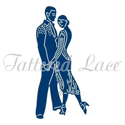TATTERED LACE WYKROJNIK - SALSA COUPLE - PARA TAŃCZY