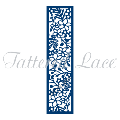 WYKROJNIK TATTERED LACE - Fern and Flowers Panel (D777)