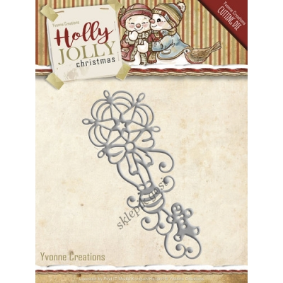 YVONNE CREATIONS - HOLLY JOLLY CHRISTMAS - ORNAMENT ŚWIĄTECZNY