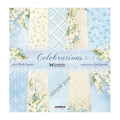 ScrapAndMe - CELEBRATIONS BLUE ZESTAW