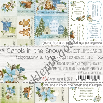 CAROLS IN THE SNOW - ZESTAW KART DO PROJECT LIFE